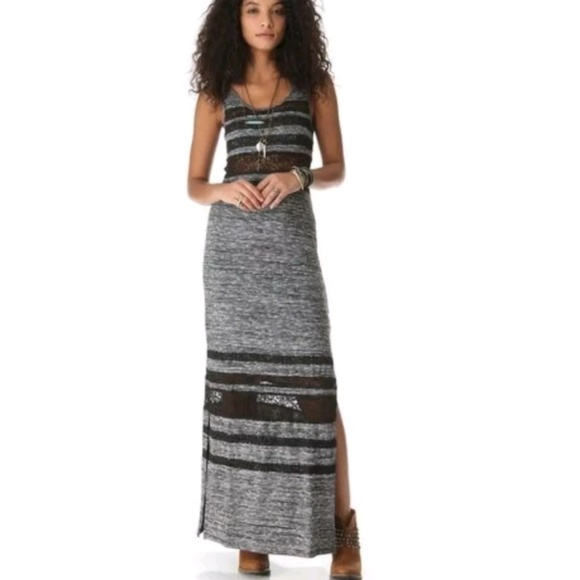 cf77541d09a Free People Dresses   Skirts - FREE PEOPLE Hazy Daze Lace Striped Maxi Dress  Lace